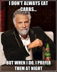 Carbs at night